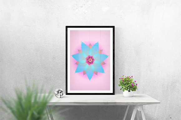 Print on Demand: Creative Pink and Blue Poster Graphic Print Templates By creativesya