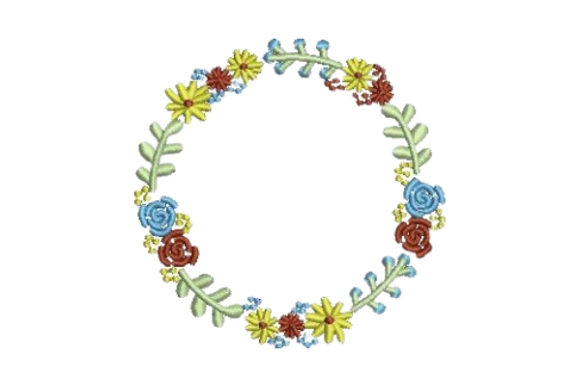 Cute Flower Wreath Floral Wreaths Embroidery Design By Embroidery Designs - Image 1