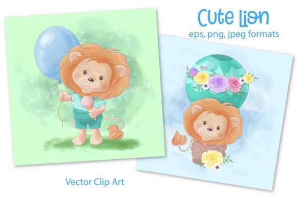 Print on Demand: Cute Lion Graphic Illustrations By nicjulia