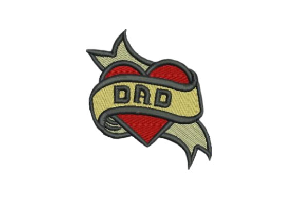 Dad Tattoo Father Embroidery Design By Embroidery Designs - Image 1