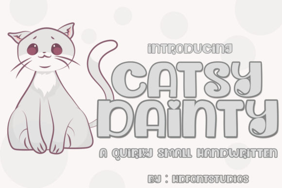 Print on Demand: Dainty Catsy Script & Handwritten Font By edwar.sp111