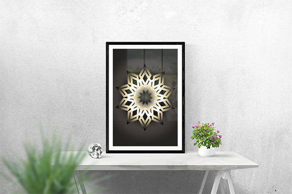Print on Demand: Decorative Golden Poster Graphic Graphic Templates By creativesya