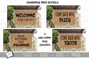 Download Free Doormat Mini Bundle Graphic By Stacysdigitaldesigns Creative for Cricut Explore, Silhouette and other cutting machines.