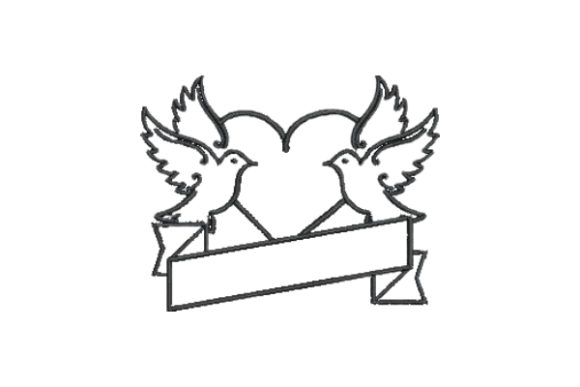 Dove Tattoo Birds Embroidery Design By Embroidery Designs - Image 1