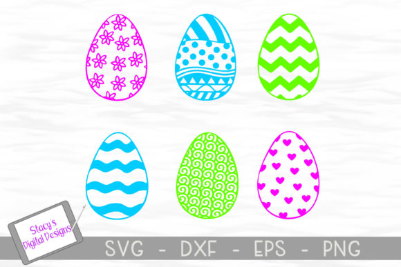 Easter Eggs Bundle Eggs Graphic Crafts By stacysdigitaldesigns