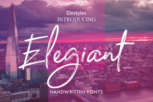 Print on Demand: Elegiant Script & Handwritten Font By emanesdsign