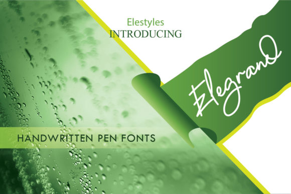 Print on Demand: Elegrand Script & Handwritten Font By emanesdsign