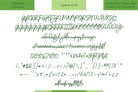 Elegrand Font Preview