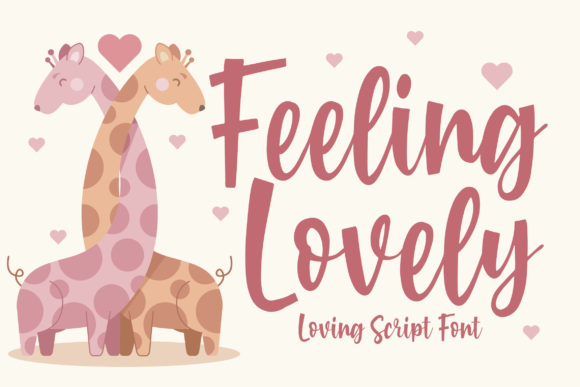 Print on Demand: Feeling Lovely Script & Handwritten Font By Blankids Studio