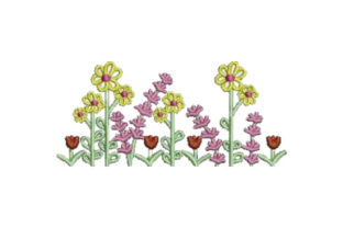 Field of Summer Flowers Bouquets & Bunches Embroidery Design By Embroidery Designs