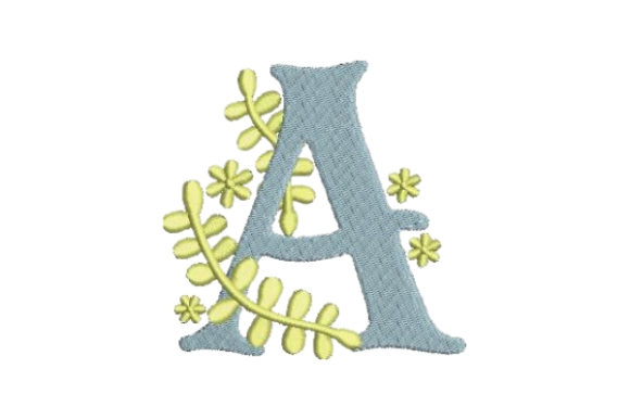 Floral Alphabet a Wedding Monogram Embroidery Design By Embroidery Designs - Image 1
