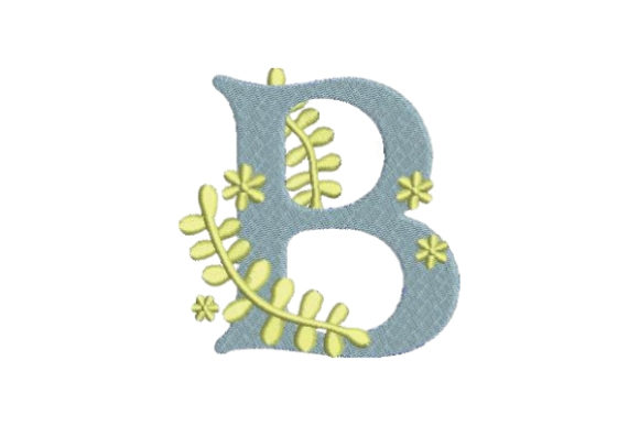 Floral Alphabet B Wedding Monogram Embroidery Design By Embroidery Designs