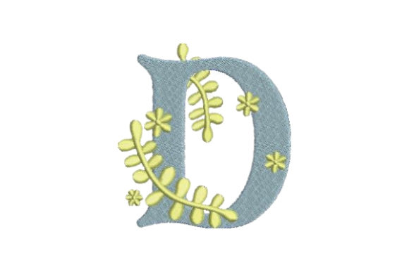 Floral Alphabet D Wedding Monogram Embroidery Design By Embroidery Designs - Image 1