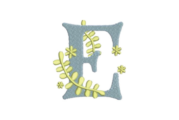 Floral Alphabet E Wedding Monogram Embroidery Design By Embroidery Designs - Image 1