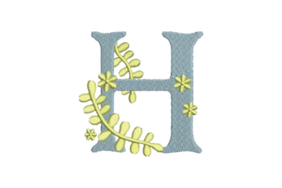 Floral Alphabet H Wedding Monogram Embroidery Design By Embroidery Designs - Image 1