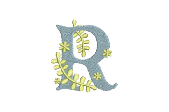 Floral Alphabet R Wedding Monogram Embroidery Design By Embroidery Designs - Image 1