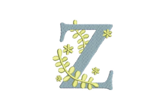Floral Alphabet Z Wedding Monogram Embroidery Design By Embroidery Designs - Image 1