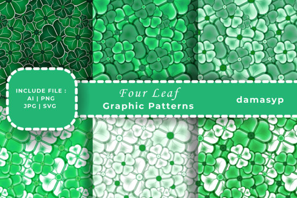 Print on Demand: Four Leaf Clover Graphic Patterns By damasyp