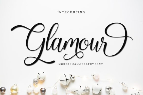 Print on Demand: Glamour Script & Handwritten Font By bosstypestudio