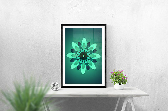 Print on Demand: Green Modern Flower Graphic Graphic Templates By creativesya
