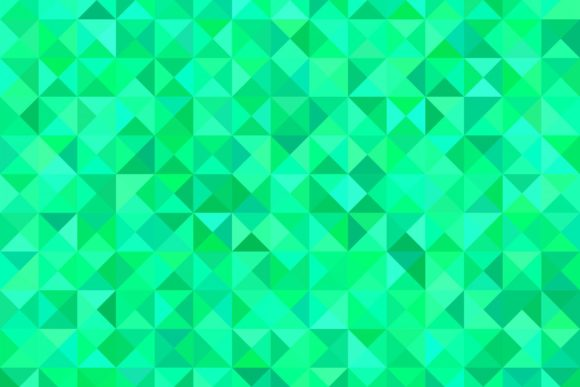 Green Triangle Mosaic Graphic Backgrounds By davidzydd