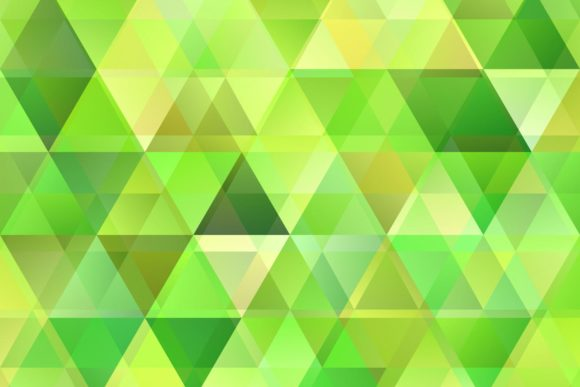 Green Triangle with Opacity Graphic Backgrounds By davidzydd
