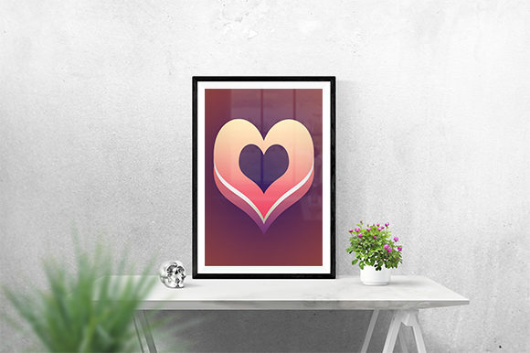 Print on Demand: Heart Design Poster Graphic Graphic Templates By creativesya