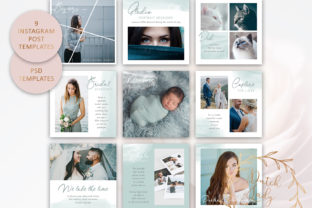 Print on Demand: Instagram Post Template Graphic Presentation Templates By daphnepopuliers
