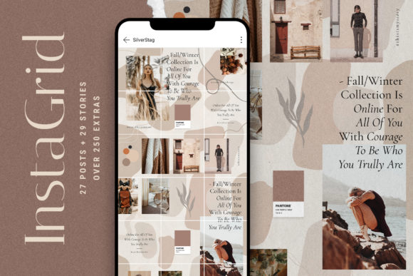 Print on Demand: Instagram Puzzle Template Graphic Websites By SilverStag
