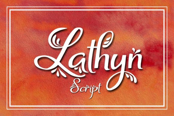 Print on Demand: Lathyn Script & Handwritten Font By Eva Barabasne Olasz