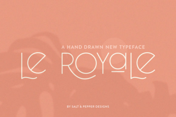 Print on Demand: Le Royale Sans Serif Font By Salt & Pepper Designs