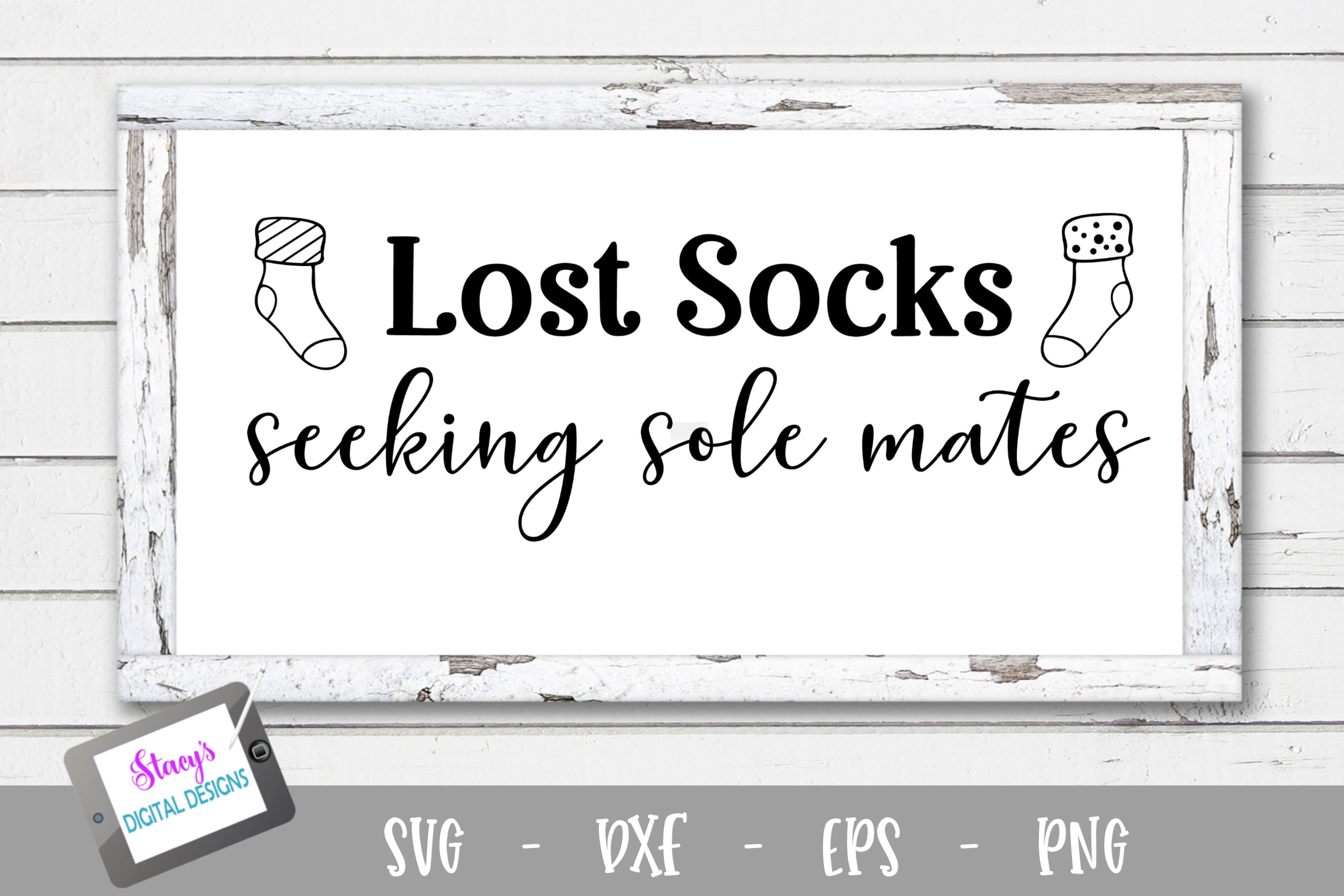 Download Free Lost Socks Seeking Sole Mates Graphic By Stacysdigitaldesigns for Cricut Explore, Silhouette and other cutting machines.