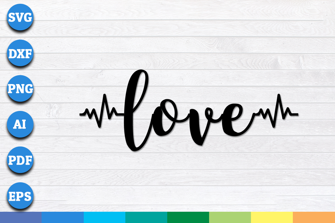 Download Free Love With Heartbeat Graphic By Aartstudioexpo Creative Fabrica for Cricut Explore, Silhouette and other cutting machines.