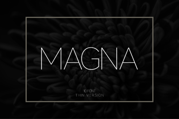 Print on Demand: Magna Thin Sans Serif Font By Huntype - Image 1