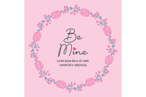 Download Free Pattern Of Wallpaper Card Be Mine Cute Graphic By Stockfloral SVG Cut Files