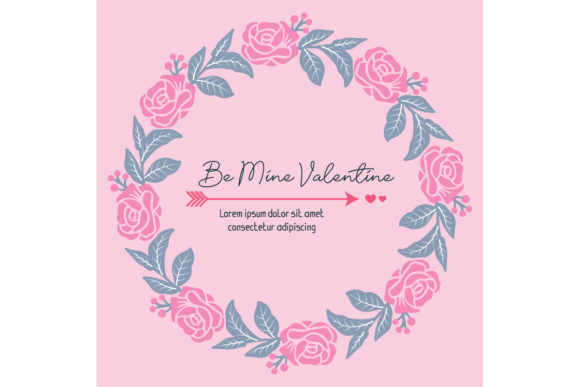 Download Free Pattern Of Wallpaper Card Be Mine Cute Graphic By Stockfloral for Cricut Explore, Silhouette and other cutting machines.
