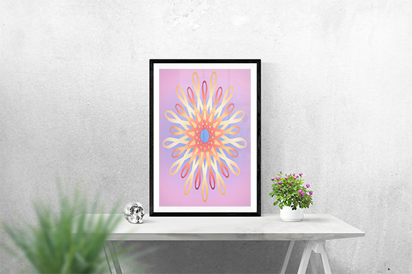 Print on Demand: Pink Flower Poster Graphic Crafts By creativesya