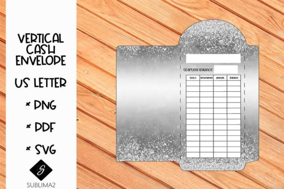 Download Free Printable Us Letter Cash Envelope Graphic By Sublima2 Creative Fabrica for Cricut Explore, Silhouette and other cutting machines.