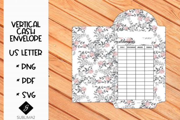 Download Free Printable Us Letter Cash Envelope Graphic By Kenia Porcayo Creative Fabrica for Cricut Explore, Silhouette and other cutting machines.