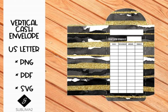 Download Free Printable Us Letter Cash Envelope Graphic By Sublima2 Creative for Cricut Explore, Silhouette and other cutting machines.