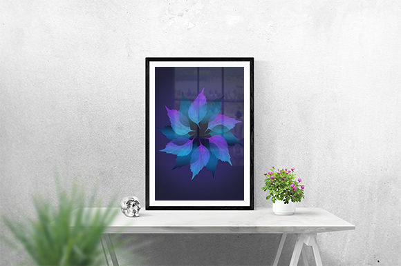 Print on Demand: Purple Leaf Poster Graphic Print Templates By creativesya