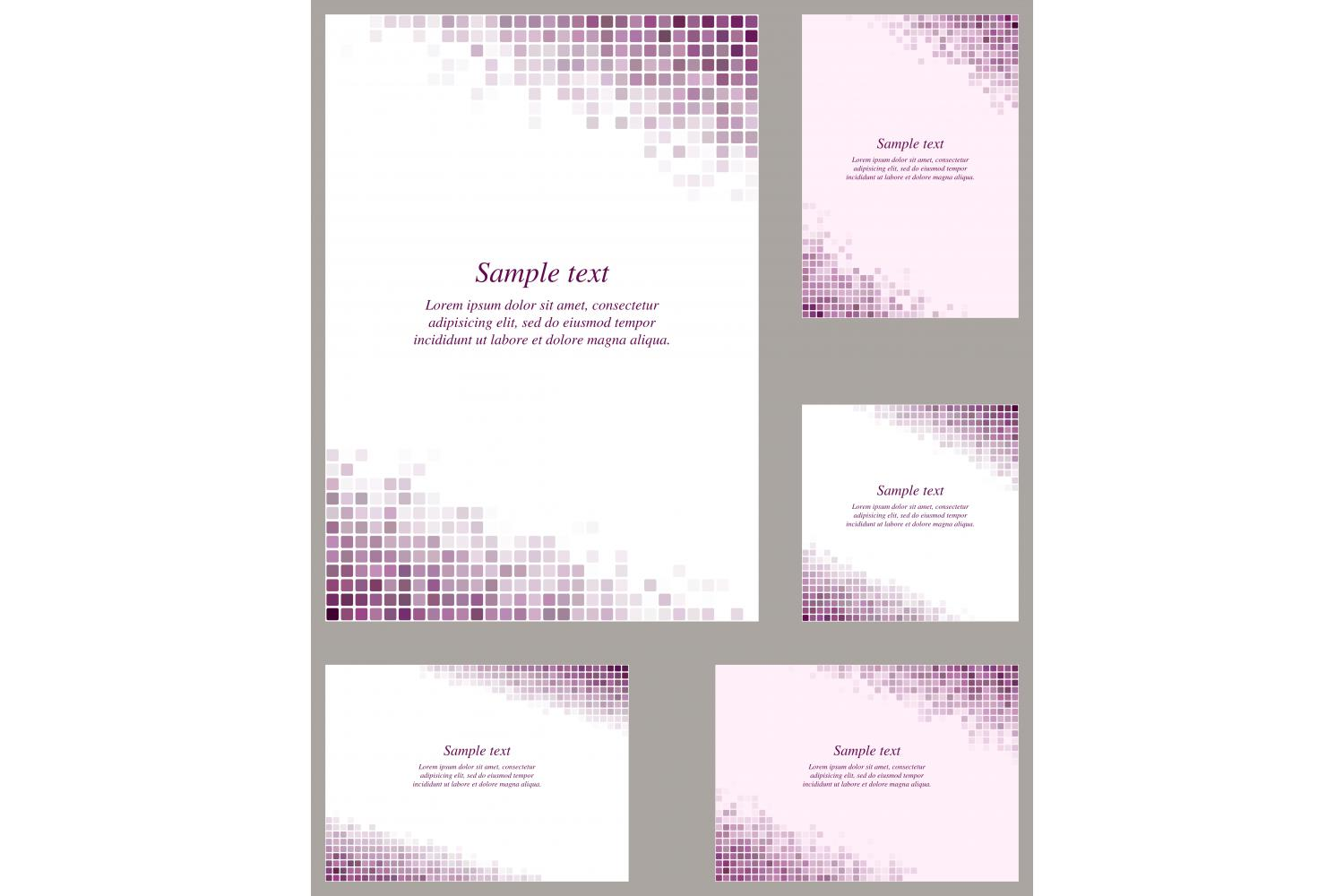 Download Free Purple Pixel Mosaic Page Background Set Graphic By Davidzydd Creative Fabrica for Cricut Explore, Silhouette and other cutting machines.