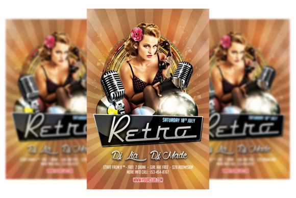 Print on Demand: Retro Party Graphic Print Templates By Matthew Design