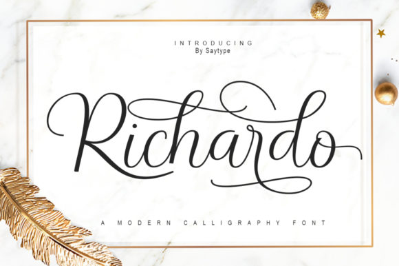 Print on Demand: Richardo Script & Handwritten Font By sayutiuwais84
