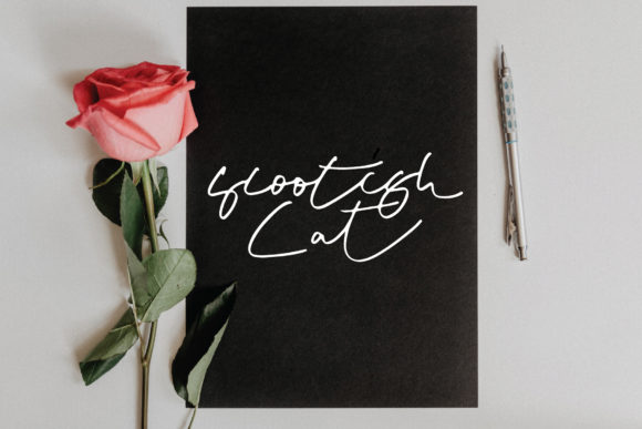 Download Free Scootish Cat Font By Goodigital Creative Fabrica for Cricut Explore, Silhouette and other cutting machines.