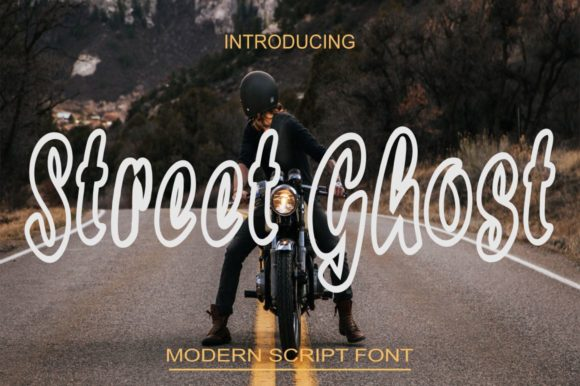 Print on Demand: Street Ghost Script & Handwritten Font By Bot Kerling