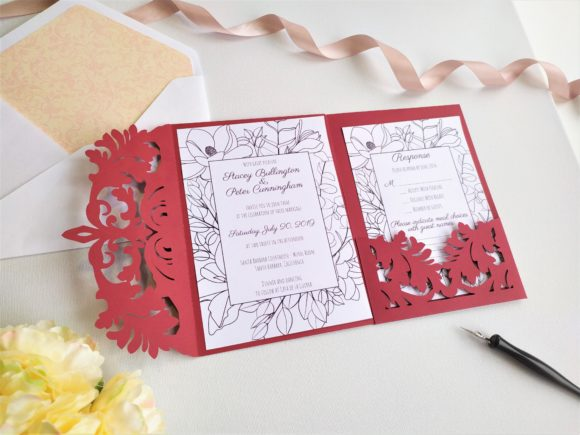 Download Free Four Fold Wedding Invitation Graphic By Sadovichdesign SVG Cut Files