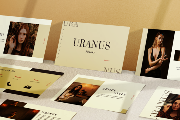 Download Free Uranus Presentation Template Graphic By Ovoz Graphics Creative for Cricut Explore, Silhouette and other cutting machines.