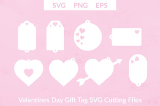 Download Free Valentines Day Gift Tags Graphic By Liebreizdesign Creative Fabrica for Cricut Explore, Silhouette and other cutting machines.