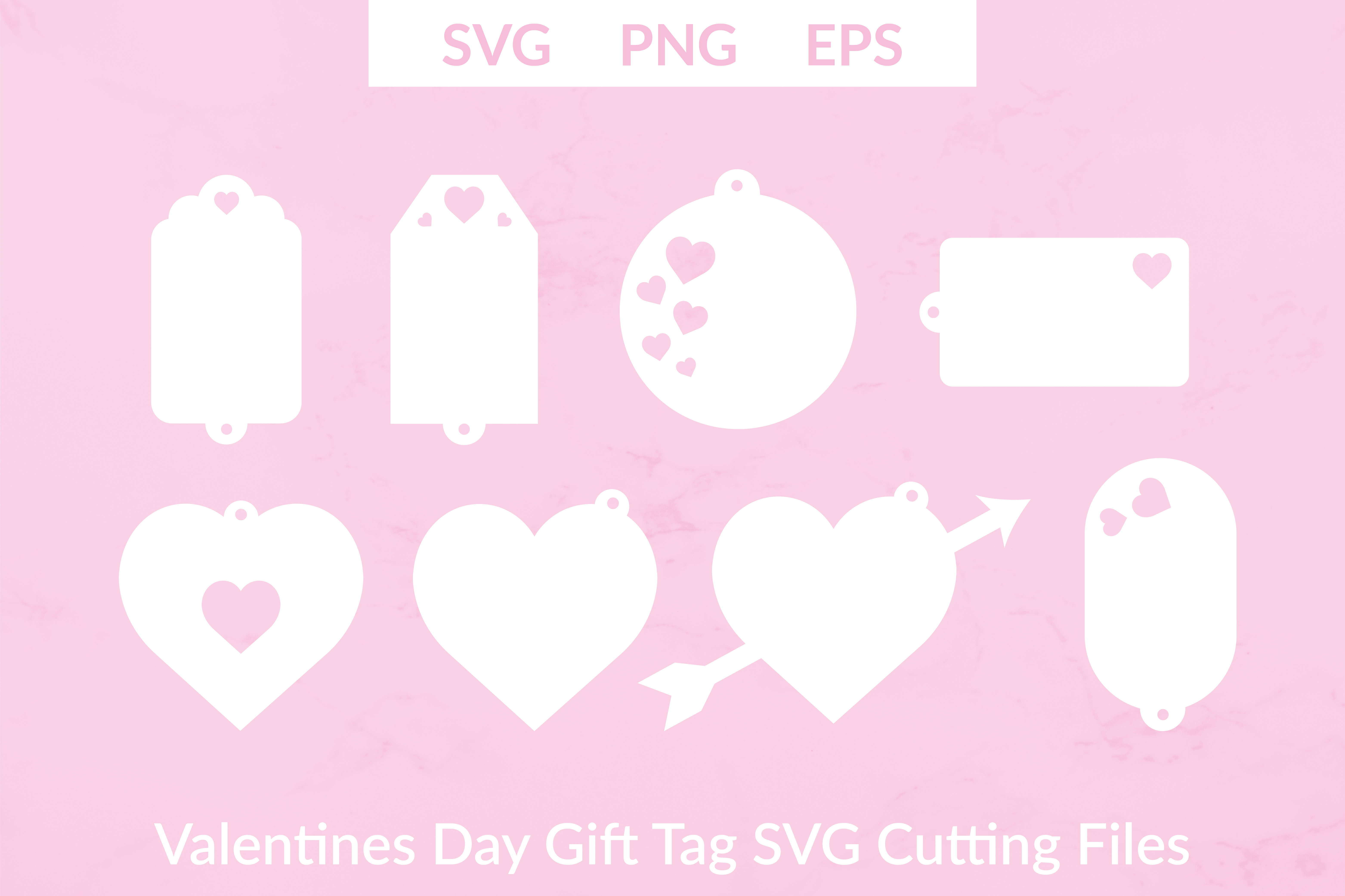 Download Free Valentines Day Gift Tags Graphic By Liebreizdesign Creative for Cricut Explore, Silhouette and other cutting machines.